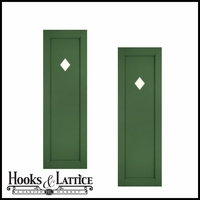 12in. Wide - Designer Collection Raised Single Panel Fiberglass Exterior Shutters (pair)