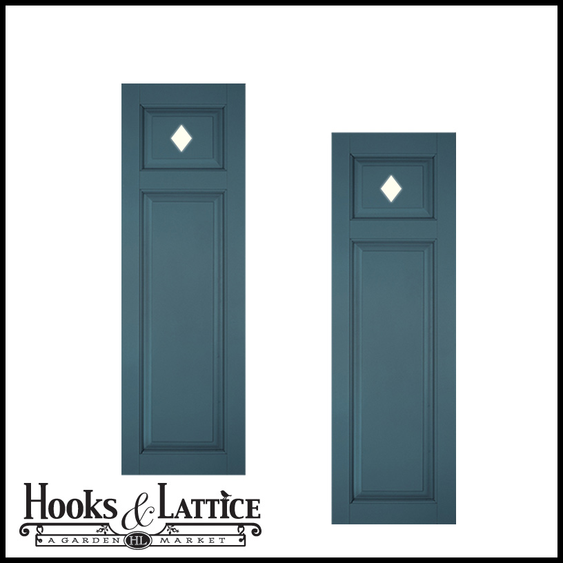 12in Wide Designer Collection Raised Two Unequal Panel Classic Collection Exterior Shutters