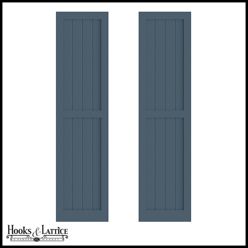 18in wide never fail v groove flat panel pvc composite - Flat panel exterior vinyl shutters ...