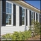 12in. Wide w/ Center Rail - Architectural Collection Fixed Louvered Composite Fiberglass Shutters w/ Faux Tilt Rod (Pair)