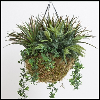 12in. Windsor Woodlands Moss Hanging Basket