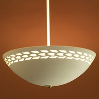 "13.5"" Ceiling Light w/ Abstract Maize Border"