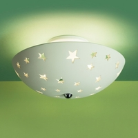 "13.5""  Ceramic Bowl Ceiling Light w/ Stars"