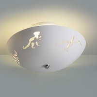 "13.5"" Dreamy Dinosaurs Ceramic Ceiling Light"