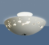 "13.5"" Frolicking Fish Children's Ceiling Light"