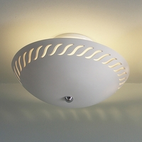 "13.5"" S-Curve Border Ceramic Ceiling Light"