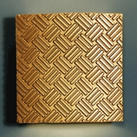 "13"" Gold Herringbone Wall Sconce - Parquet Pattern"