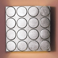 "13"" Raised Circles Wall Sconce - Metallic Silver Finish"