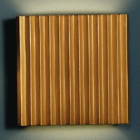 "13"" Steel Corrugated Wall Sconce  - Gold Finish"