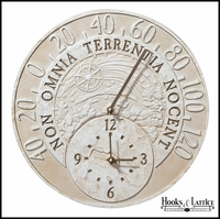 "14 1/2""Fossil Celestial Thermometer Clock"
