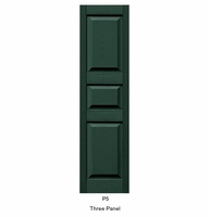 "14 1/2"" Wide Three Unequal Panel Shutters (Custom Product) - Pair"