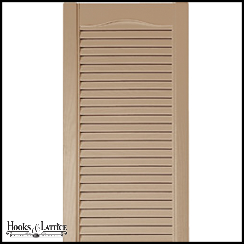 12in Cathedral Top Vinyl Combination Louvered Over Panel Exterior Shutters Custom Product