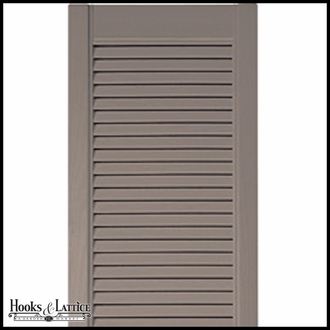 12in. Wide Straight Top - Vinyl Combination Louvered over Panel Exterior Shutters (Custom Product) - Pair