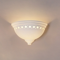 "14"" Deep Bowl Sconce w/ Classic Diamond Border"