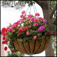 "14"" English Garden Flat Steel Hanging Basket"