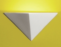 "14"" Inverted Pyramid Geometric Sconce"