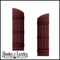 "14"" Wide - 4 Boards Joined Arch Top Shutter Pair"