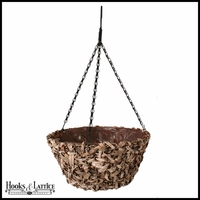 14in. Amalia Natural Tapered Hanging Basket