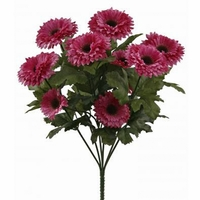14in. Artificial Aster Bush, Outdoor Rated - Purple Flowers