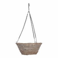14in. Gracewood Wicker Tapered Hanging Basket