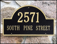 15 3/4in. Standard Wall Arch Address Plaque