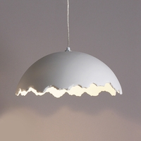 "15.5"" Egg Shell Ceramic Pendant Light"