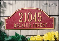 15in. Admiral Address Plaque