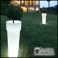 "15""Dia x 35""H Ghiberti Illuminated Planter"