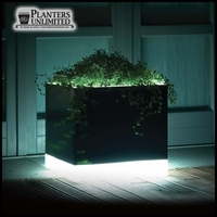 "15""L x 15""W x 35""H Mezzaluna Illuminated Planter"