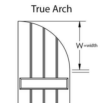 """Board & Batten Arched Top - 15"""" Wide with 4 Boards  (Pair)"""