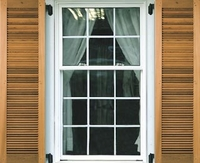 "15"" Wide - Single Panel Cedar Louvered Exterior Shutters"
