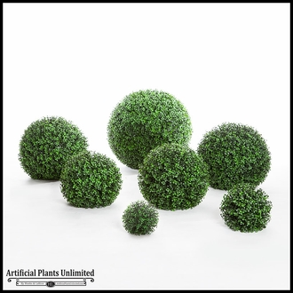 6in. Ornamental Boxwood Topiary Ball - Outdoor