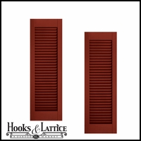15in. Wide - Architectural Collection Fixed Louvered Composite Fiberglass Shutters (pair)