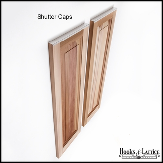 15in. Wide Cedar One Panel Design - Exterior Shutter Pair