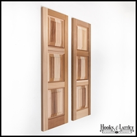 15in. Wide Cedar Three Equal Panel Design - Exterior Shutter Pair