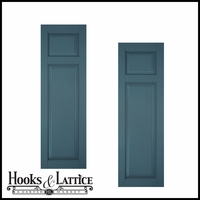 15in. Architectural Collection Raised 2 Unequal Panel Shutters (pair)
