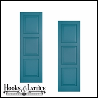 15in. Wide Classic Collection Raised 3 Equal Panel Shutters (pair)