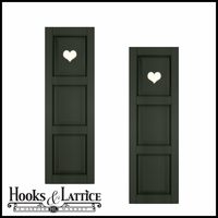 15in. Wide - Designer Collection Raised 3 Equal Panel Fiberglass Exterior Shutters (pair)