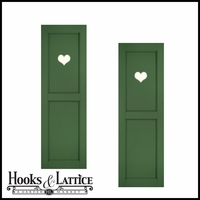 15in. Wide - Designer Collection Raised Two Equal Panel Fiberglass Exterior Shutters (pair)