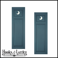 15in. Wide - Designer Collection Raised Two Unequal Panel Fiberglass Exterior Shutters (pair)