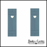 15in. Wide with 2 Boards - Classic Collection Composite Board & Batten Shutters (pair)