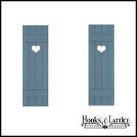 15in. Wide with 4 Boards - Classic Collection Composite Board & Batten Shutters (pair)