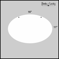 "16"" Oval Aluminum Sign Blank"