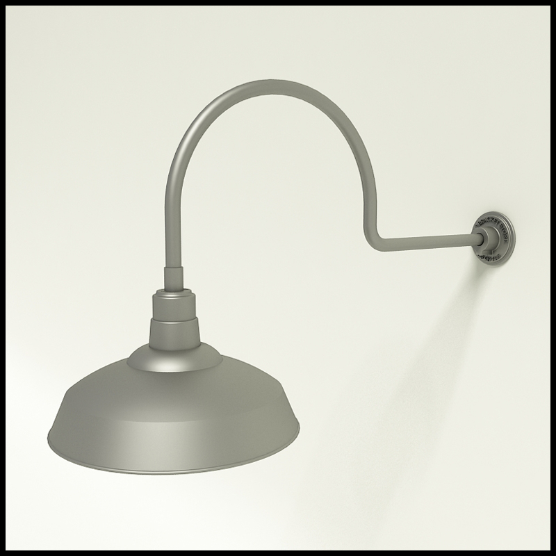 Warehouse Shade Light, Gooseneck Warehouse Shade