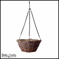 16in. Gracewood Wicker Tapered Hanging Basket