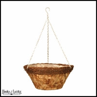 16in. Larkwood Pressed Leaf Tapered Basket