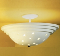 "17"" Stars Galore Large Ceramic Ceiling Light"