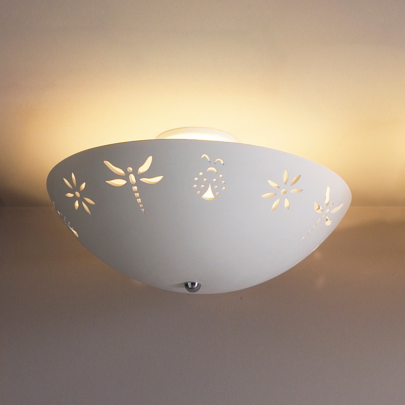 18 Quot Blooms Amp Bugs Ceiling Light