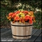 "18"" Cedar Round Half Wine Barrel Planter"