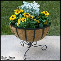 """18"""" Chelsea Basket w/ Planter Stand"""